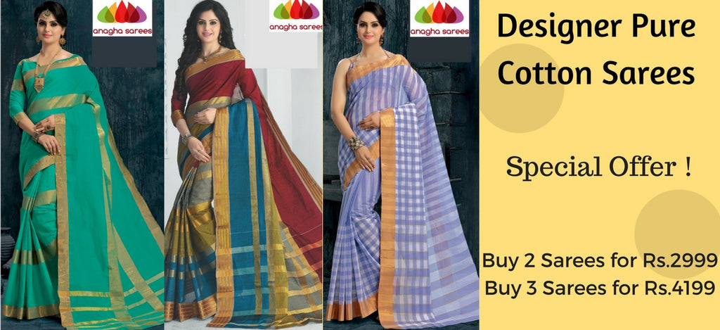 Anagha Product Collection Pure Cotton Sarees