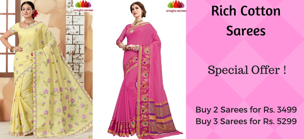 Anagha Product Collection Rich Cotton Sarees