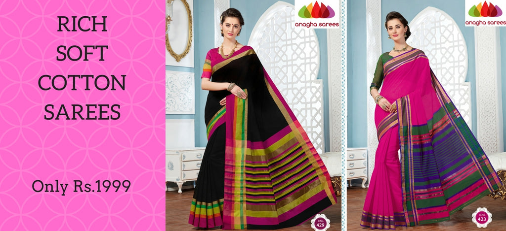 Anagha Sarees - Rich Soft Cotton Sarees