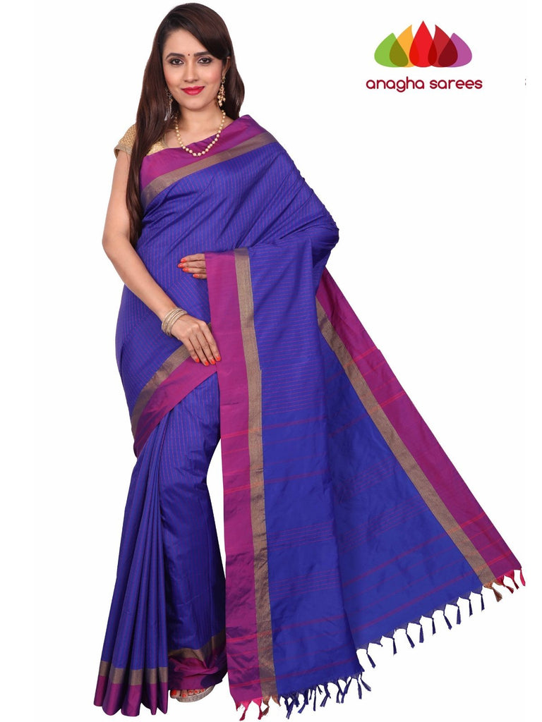 Soft Semi Silk Saree - Ink Blue ANA_F80