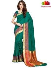 Anagha Sarees Chanderi cotton Rich Cotton Saree - Green  ANA_959