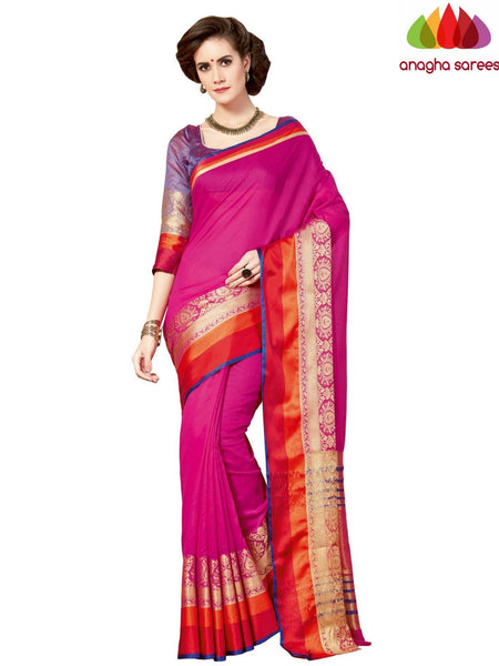Anagha Sarees Chanderi cotton Rich Cotton Saree - Pink  ANA_967