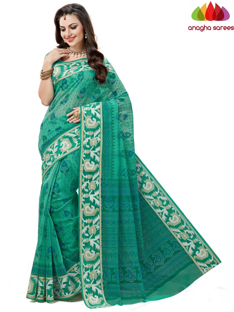 Anagha Sarees Cotton saree Fancy Cotton Saree -Green : ANA_599