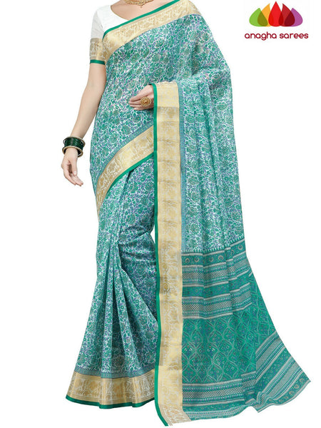 Anagha Sarees Cotton saree Fancy Cotton Saree - Green : ANA_D03