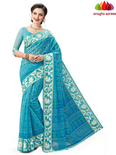 Anagha Sarees Cotton saree Fancy Cotton Saree -Light Blue : ANA_601