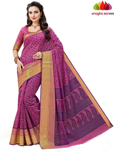 Anagha Sarees Cotton saree Fancy Cotton Saree -Light Magenta : ANA_602