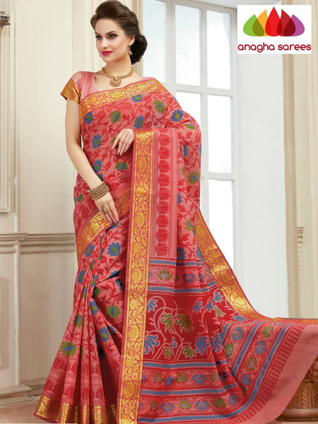 Anagha Sarees Cotton saree Fancy Cotton Saree - Lotus Pink : ANA_136