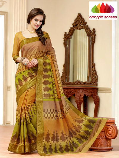 Fancy Cotton Saree - Multicolor : ANA_139 - Anagha Sarees