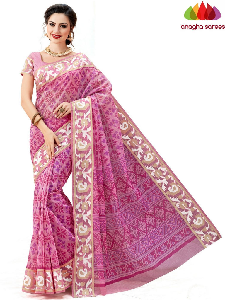 Fancy Cotton Saree - Pink : ANA_610 Anagha Sarees