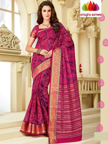 Anagha Sarees Cotton saree Fancy Cotton Saree - Pink : ANA_A08