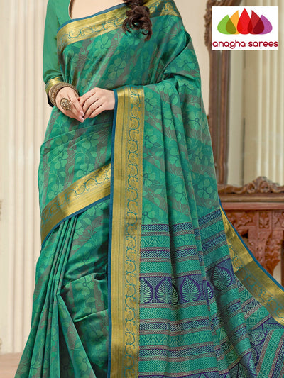 Anagha Sarees Cotton saree Fancy Cotton Saree - Sea green : ANA_115