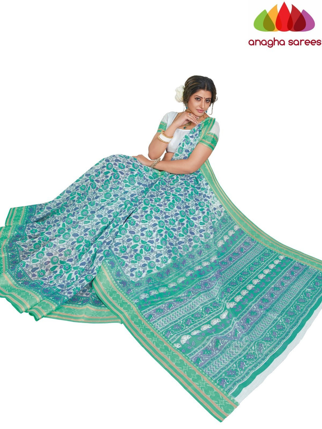 Anagha Sarees Cotton saree Standard / Multicolor Fancy Cotton Saree - Multicolor : ANA_L09