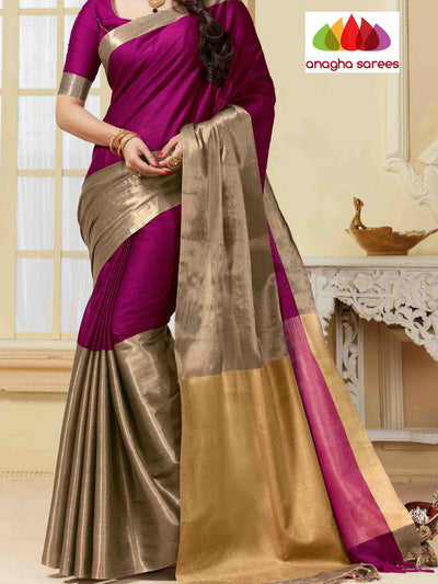 Anagha Sarees Cotton-silk Soft Cotton-Silk Saree - Light Magenta ANA_325