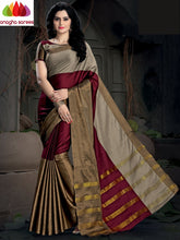 Anagha Sarees Cotton-silk Soft Cotton Silk Saree - Maroon/Grey  ANA_988