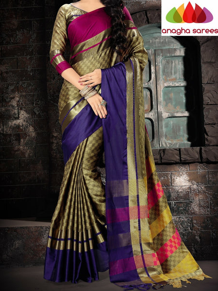 Anagha Sarees Cotton-silk Soft Cotton Silk Saree - Multicolor ANA_745