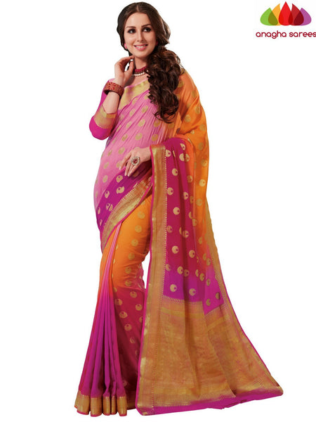 Designer Crepe Silk Saree - Multicolor : ANA_D70
