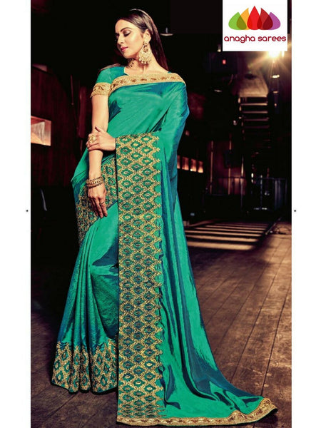 Designer Soft Silk Saree - Peacock Green  ANA_B28