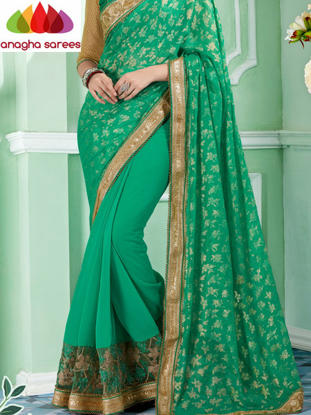 Anagha Sarees Georgette Saree Rich Designer Georgette Saree - Light Green  ANA_298