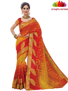 Designer Jacquard Semi-Silk Saree - Multicolor ANA_431