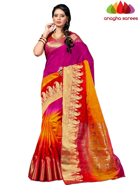 Designer Jacquard Semi Silk Saree - Multicolor  ANA_547