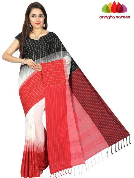 Anagha Sarees khadi cotton Handloom Pure Khadi Cotton Saree - Multicolor  ANA_E37