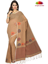 Anagha Sarees khadi cotton Handloom Rich Khadi Cotton Saree - Beige ANA_E24