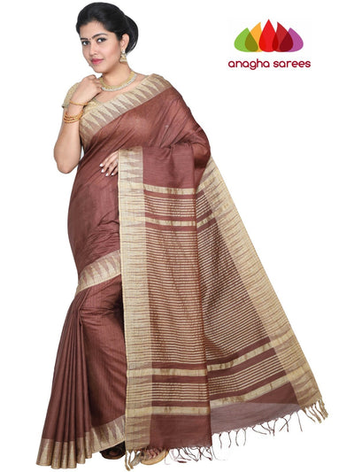 Kota Staple Silk Saree - Brown : ANA_G64 - Anagha Sarees