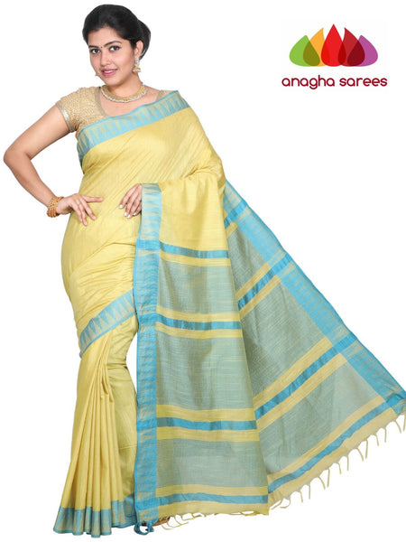Kota Staple Silk Saree - Lime Green : ANA_G62