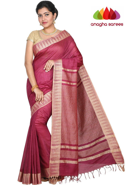 Anagha Sarees Kota Staple Silk Kota Staple Silk Saree - Magenta : ANA_G63
