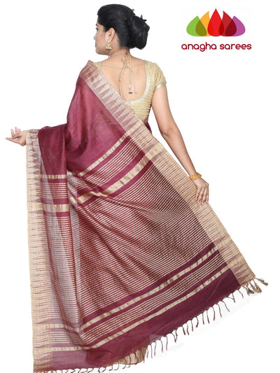 Kota Staple Silk Saree - Wine : ANA_G71 - Anagha Sarees