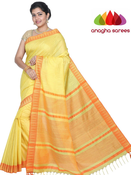 Anagha Sarees Kota Staple Silk Kota Staple Silk Saree - Yellow : ANA_G67