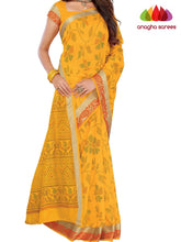 Designer Fancy Cotton Saree -  Yellow : ANA_G49 - Anagha Sarees