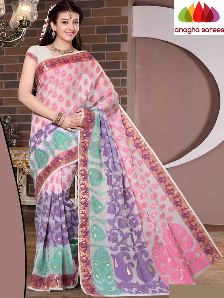 Designer Organza Silk Saree - White Multicolor ANA_679