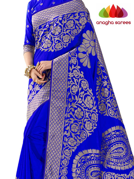 Anagha Sarees Patola silk saree Rich Embellished Patola Silk Designer Saree - Ink Blue ANA_263