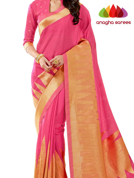 Anagha Sarees Patola silk saree Rich Embellished Patola Silk Designer Saree - Light Pink ANA_264