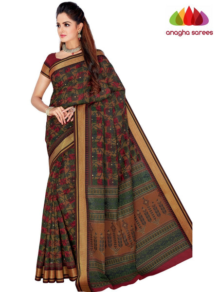 Designer Fancy Cotton Saree -  Multicolor : ANA_G40