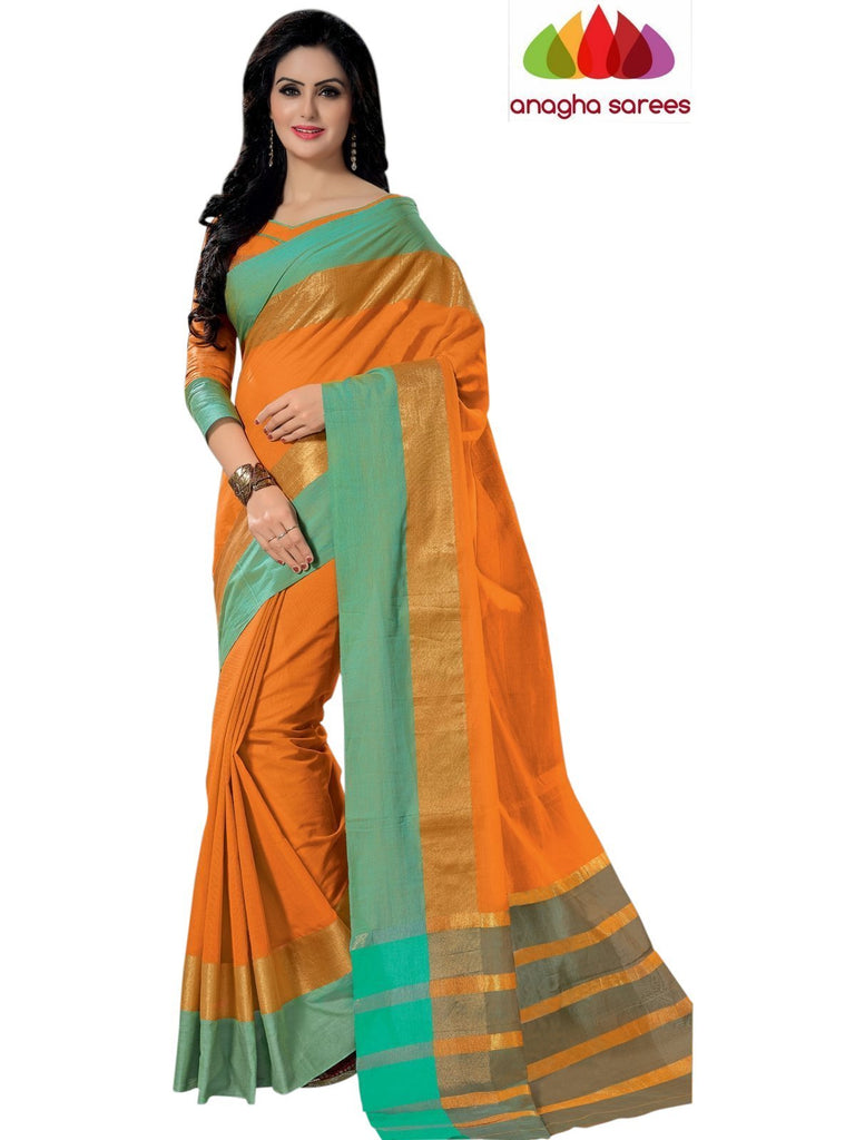 Designer Pure Cotton Saree - Mango Yellow ANA_778 Anagha Sarees
