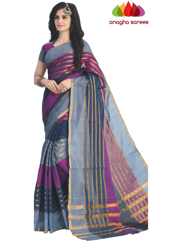 Designer Pure Cotton Saree - Multicolor ANA_426 Anagha Sarees
