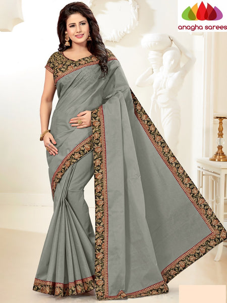 Fancy Cotton Saree - Grey : ANA_G96