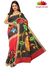 Hand Painted Rich Cotton Saree -  Multicolor : ANA_E96