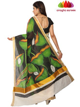 Anagha Sarees Pure Cotton Hand Painted Rich Cotton Saree -  Multicolor : ANA_E97