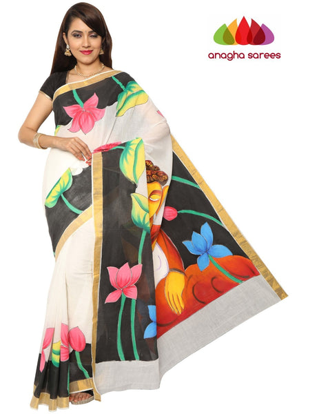 Hand Painted Rich Cotton Saree -  Multicolor : ANA_F01