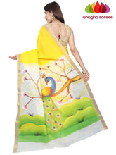 Hand Painted Rich Cotton Saree -  Multicolor : ANA_F96