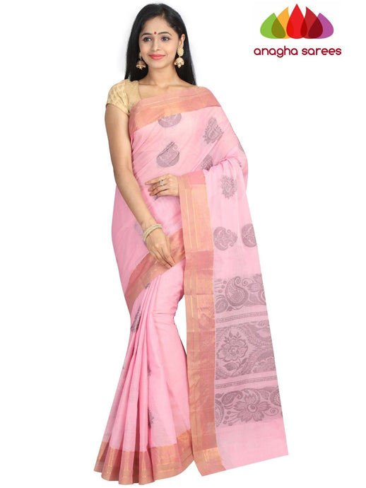 Handloom Pure Cotton Saree - Light Pink : ANA_G89