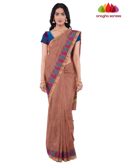 Handloom Chettinad Cotton Saree - Onion Pink : ANA_J99 - Anagha Sarees