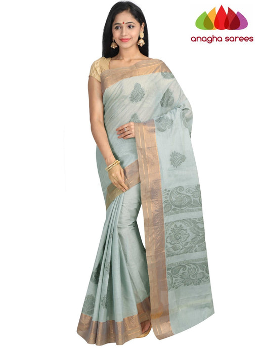 Anagha Sarees Pure Cotton Standard / Grey Handloom Rich Cotton Saree - Grey : ANA_G90