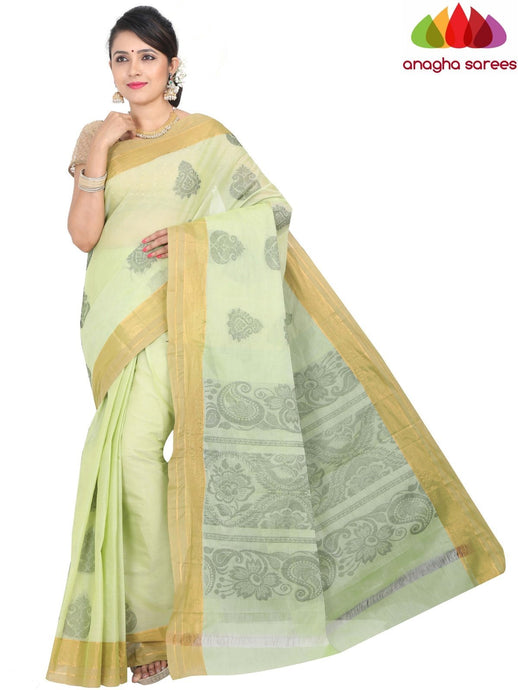 Anagha Sarees Pure Cotton standard / Pista Green Handloom Rich Cotton Saree - Pista Green : ANA_H29
