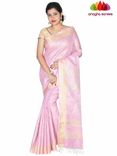 Anagha Sarees Pure Linen Length=6.2metres, width= 45 inches / Lavender Pure Linen Saree - Lavender : ANA_H42
