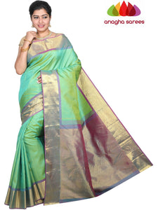 Designer Kanjivaram Pure Silk Saree - Light Green : ANA_G74