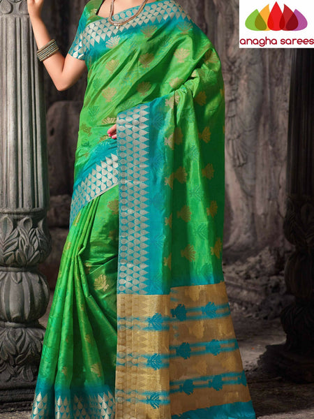 Anagha Sarees Raw Silk Saree Embellished Raw Silk Designer Saree - Light Green  ANA_307